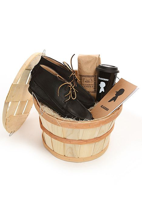 Gift basket for guys. Perfect presentation.