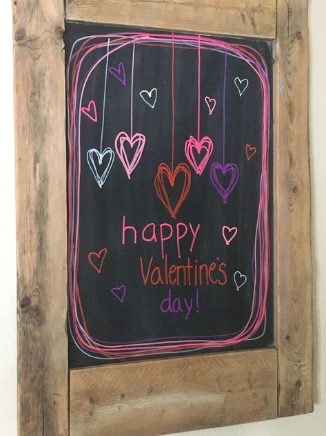 45 Cool Chalkboard Design Ideas For Valentines Day That Look So Adorable Chalkboard Doodles, Blackboard Art, Kitchen Chalkboard, Chalkboard Decor, Chalkboard Print, Chalkboard Drawings, Chalkboard Lettering, Chalkboard Designs, Chalk Drawings