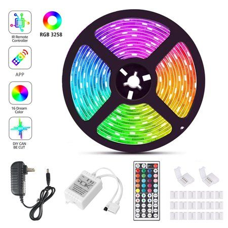 Eeekit 16 4ft Rgb 5050 3528 Flexible Led Strip Lights Color Changing 150 300 Leds Light Strips With Remote Power Supply Walmart Com In 2020 Led Tape Lighting Flexible Led Strip Lights Led Strip Lighting