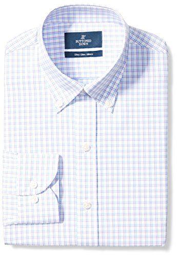 Brand Buttoned Down Mens Slim Fit Button Collar Pattern Dress Shirt