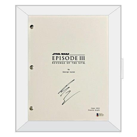 Autographed Script Star Wars Episode Iii Revenge Of The Sith Ewan Mcgregor Wars Episode Star Autographed Star Wars Episodes Revenge Ewan Mcgregor