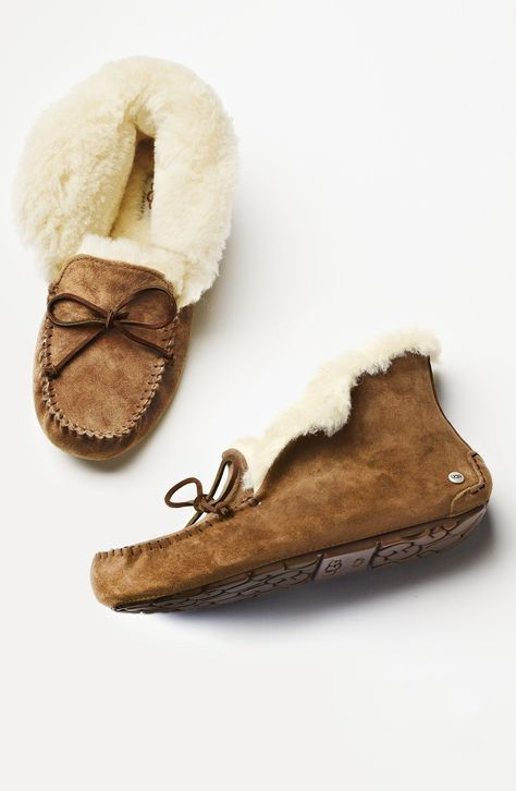 Cozy slippers you can sink your feet into.