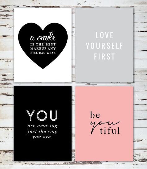 Love Yourself Free Printable Wall Art
