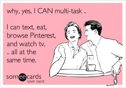 EXACTLY. This is what I'm doing now!