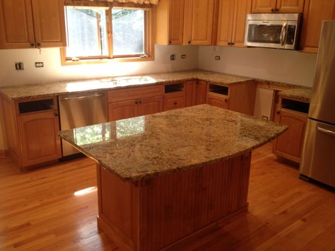 Kitchen: Exciting Kitchen Island With Lowes Quartz Countertops And Graff  Faucets Plus Cozy Pergo Flooring And Faux Brick Panels With Wall Sconces Fu2026  ...