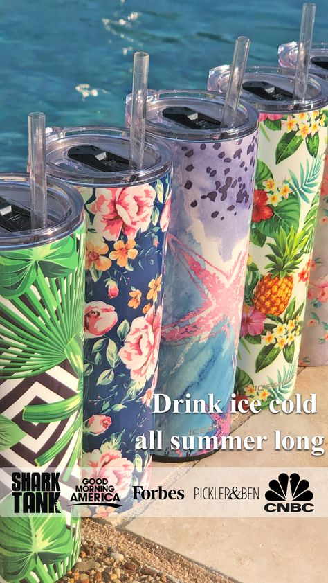 the ice shaker skinny steel tumblers are perfect for sipping your favorite