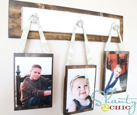 i love this photo hanger...think i will do the pictures in sepia