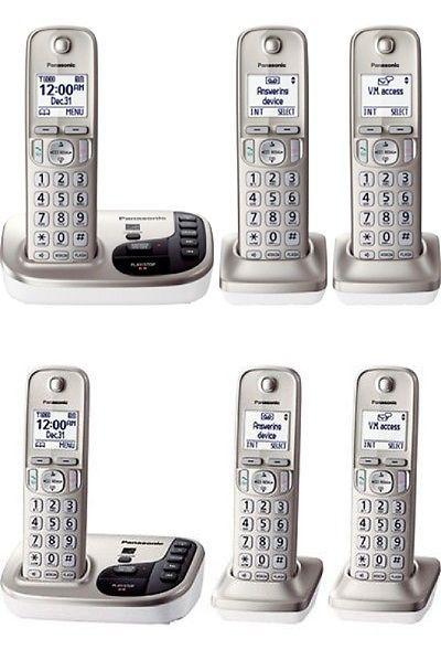 Corded Cordless Phone Combos New Panasonic Kx Tgd223n Dect 6 0 3