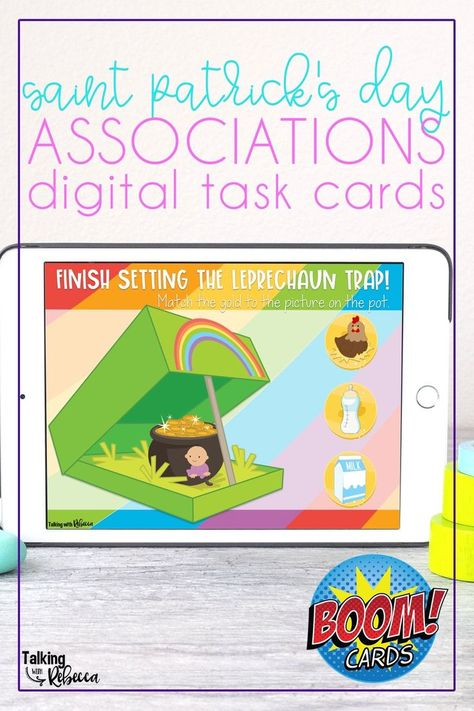Saint Patrick's Day Associations Boom Cards for Speech Therapy