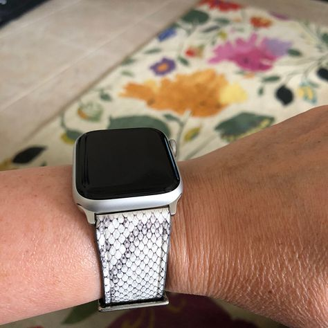 Gray Snakeskin Print Apple Watch Band 40mm 38mm 42mm 44mm Snake