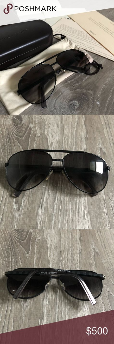 9b74a85f0e34 Louis Vuitton Attitude Pilote black 100% authentic Louis Vuitton attitude  pilote aviators. Perfect condition