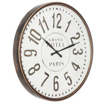 Grand Hotel Paris Metal Wall Clock Metal Wall Clock Wall Clock Clock