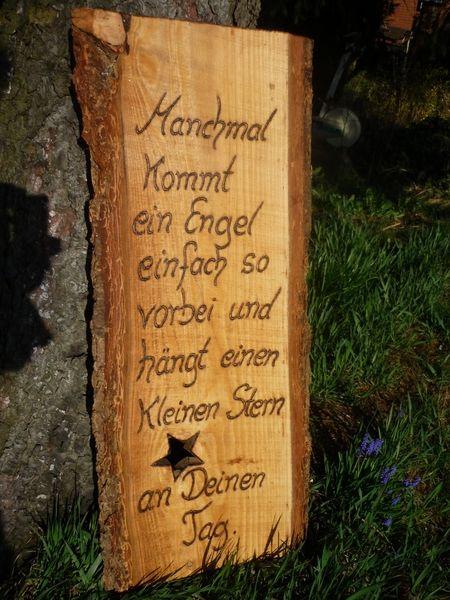 Gartendekoration Engel von Holz- Kreativ auf DaWanda.com