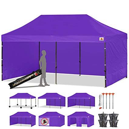 Abccanopy 23 Colors 10 X 20 Commercial Ez Pop Up Canopy Tent Instant Gazebos With 9 Removable Sides And Roller Bag And 6x Pop Up Canopy Tent Canopy Tent Gazebo