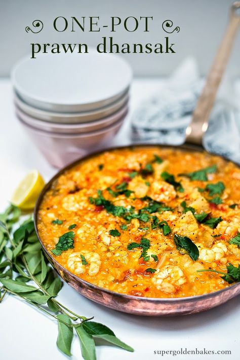 One-pot Prawn Dhansak. Low carb, filling and so delicious | Supergolden Bakes