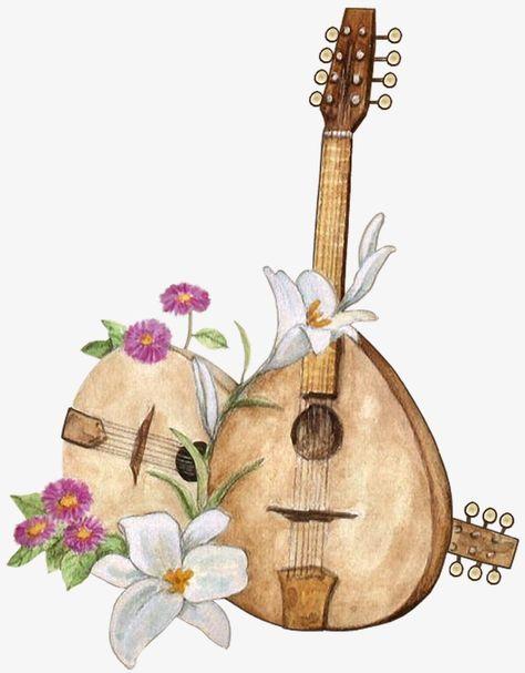 lute,rural,fresh,flowers,musical instruments,musical,instruments,lute clipart