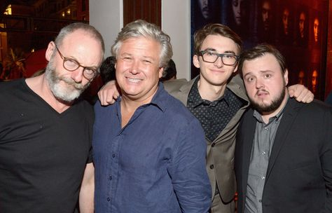 'Game of Thrones's' Liam Cunningham, Conleth Hill, Isaac Hempstead Wright and John Bradley  attend Entertainment Weekly's Comic-Con Bash.