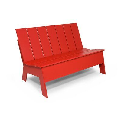 Loll Designs Picket Plastic Garden Bench Color Apple Red Size