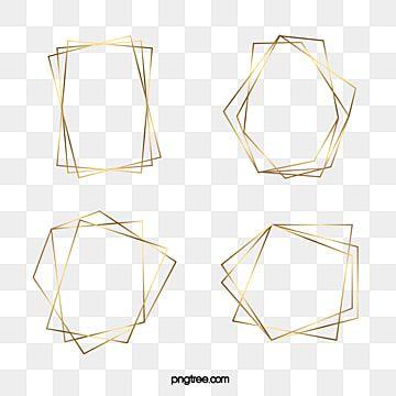Bordas Geometricas Douradas Para Banquetes Clipart De Fronteira Sobreposicao Luxuoso Imagem Png E Vetor Para Download Gratuito Fundo Geometrico Molduras Douradas Vetores