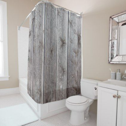 Cool Wood Look Rustic Shower Curtains Customizable Zazzle Com