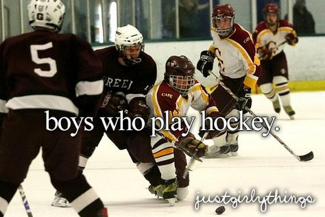 Boys who play hockey are generally really cool and relaxed which is the best thing ever :)
