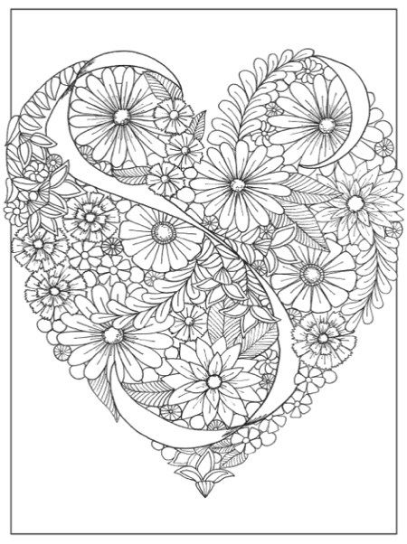 Inkspirations Color Your Way Content Review Giveaway Heart Coloring Pages Pattern Coloring Pages Mandala Coloring Pages