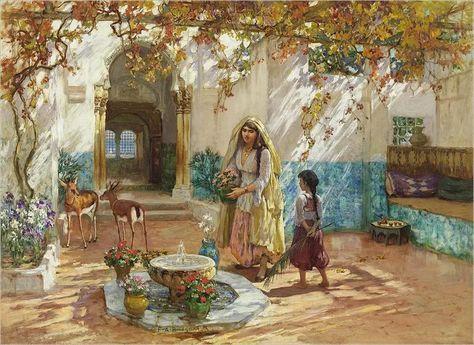Photo Algerie Peintre American Frederick Arthur Bridgman