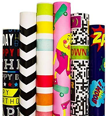 Amazon Com Wrapping Paper 5 Roll 30inch X 10 Feet Per Roll Design For Birthday Mother Day Valentin Birthday Wrapping Paper Gift Wrapping Paper Gift Wrapping