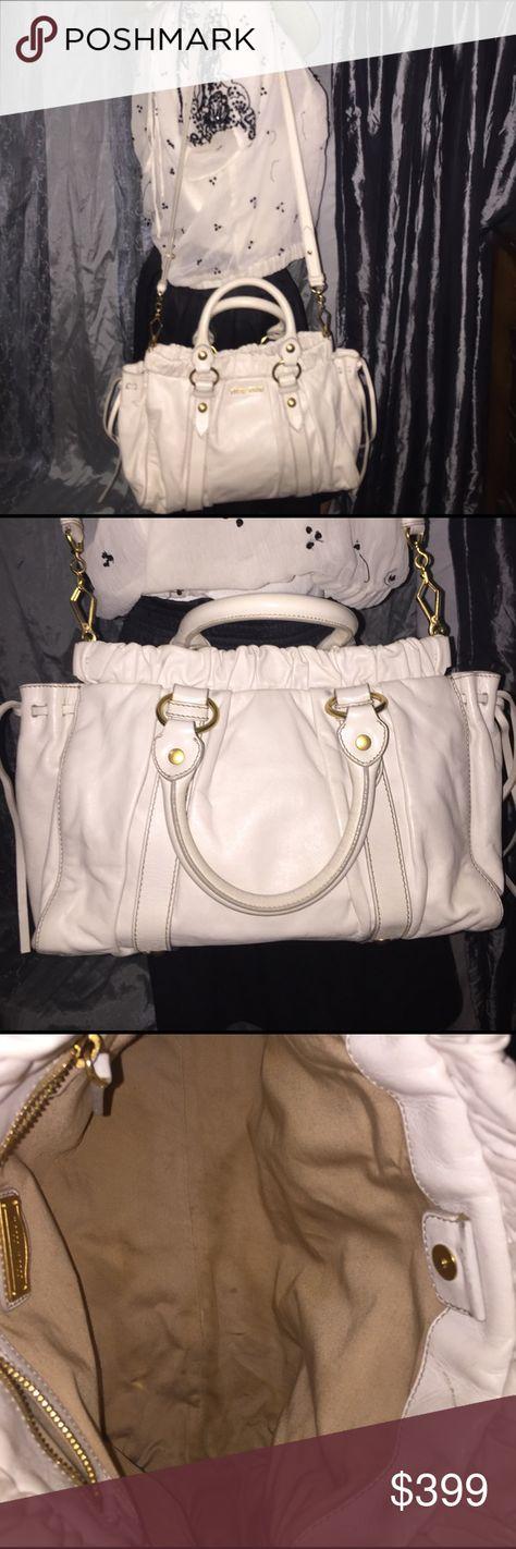 MIU MIU by Prada White Vitello Shiny Calfskin Bag MIU MIU by Prada White  Vitello Lux 39ded09646