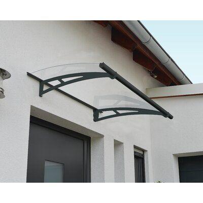 Palram Aquila 5 Ft W X 3 Ft D Convex Door Awning Wayfair In 2020 Awning Over Door Clear Door Canopy Door Canopy