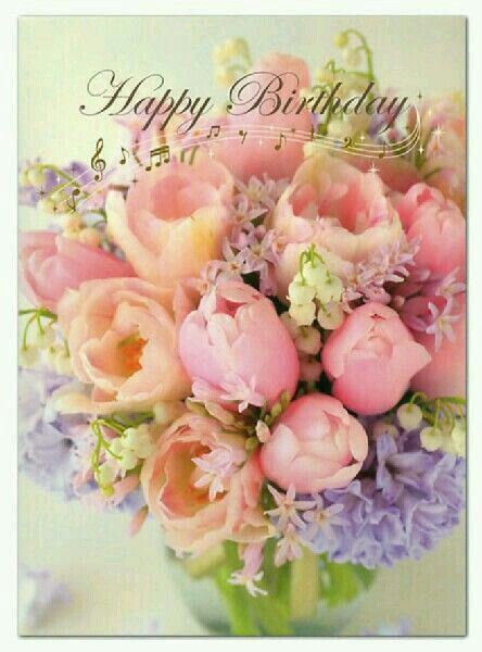 Happy Birthday Bouquet Of Flowers With Images Happy