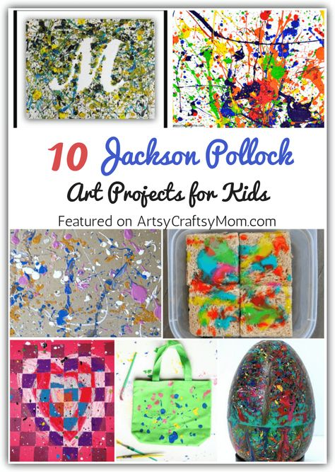 10 Jaunty Jackson Pollock Art Projects for Kids 10 Jaunty Jackson Pollock Art Projects for Kids Lucy Luuu lluuuuuuuu Kunst Introduce kids to the father of action painting nbsp hellip Painting jackson pollock Art Lessons For Kids, Art Lessons Elementary, Projects For Kids, Art Projects, Action Painting, Painting Art, Jackson Pollock Art, Famous Artists For Kids, Pollock Paintings