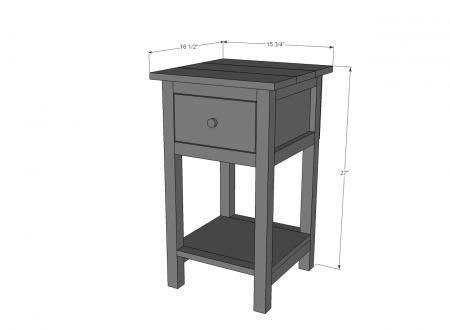 Ana White | Build a Mini Farmhouse Bedside Table Plans | Free and Easy DIY  Project and Furniture Plans | Woodworking Projects | Pinterest | Table  plans, ...