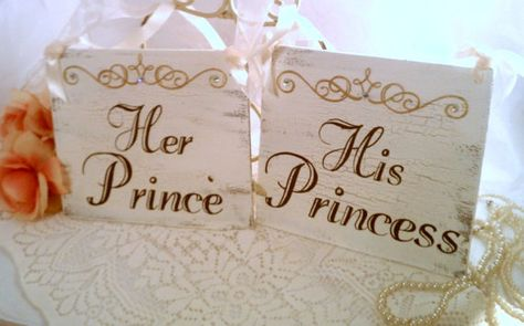 Wedding Chair Signs CRYSTALS Fairytale Wedding Decor, Cinderella Weddings, GOLD Wedding Tiara ROYAL Weddings