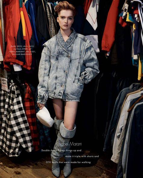 6738ba268b4c12 Ruth Bell for Elle UK February 2019 photographed by Liz Collins. . .  #Details #IsabelMarant #ElleMagazine #ElleUK #Februaryissue…