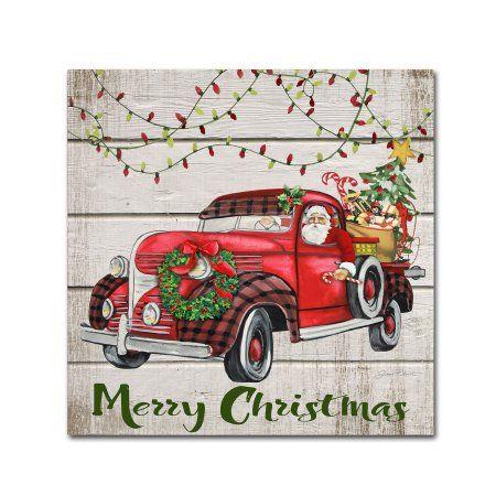 e82df2ec7f2 Trademark Fine Art  Vintage Christmas Truck 3  Canvas Art by Jean Plout