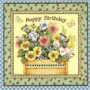 Artist Debbie Mumm 121 Pieces Happy Birthday Flower Vintage Birthday Cards Happy Birthday Cards