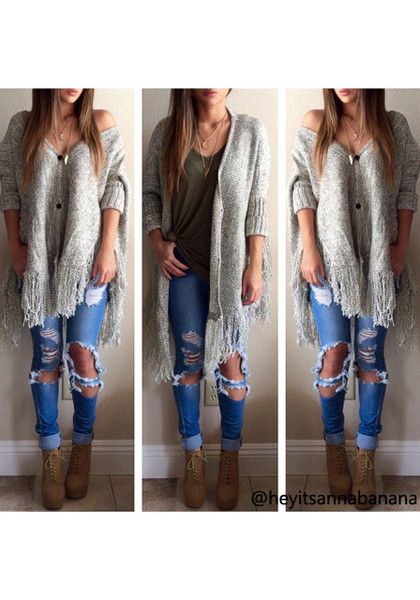 A bohemian-chic look in the cold weather?