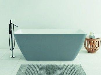 Wanna Wolnostojaca Omnires Parma W Kolorze Szaro Bialym Omnires Lazienki Bath Wanny Frestanding Wolnostojace Wnetrze Interiordesi Blue Bath Bathtub Tub