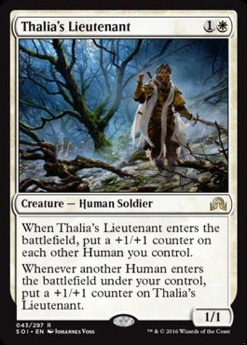 mtg WHITE HUMANS DECK Magic the Gathering rare 60 cards thalia/'s lieutenant SOI
