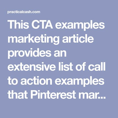 35 Call to Action Examples for Pinterest Marketing - Use These Today
