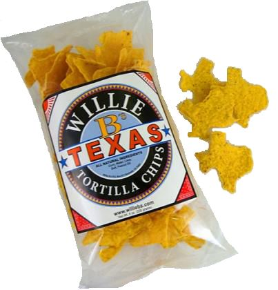 Texas-shaped chips for the welcome baskets