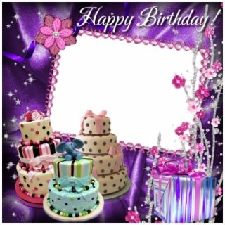 Birthday Frames PNG Images