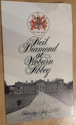 Neil Diamond At Woburn Abbey Programme Neil Diamond Neil Diamond Songs Woburn Abbey