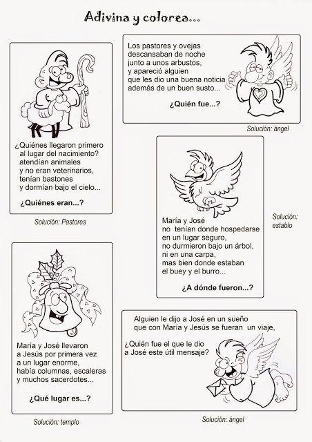 La Catequesis Adivinanzas Navidad Adivinanzas Biblicas Adivinanzas Catequesis