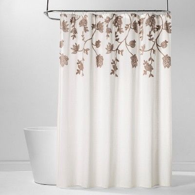 Floral Embroidered Shower Curtain Off White Threshold In 2020
