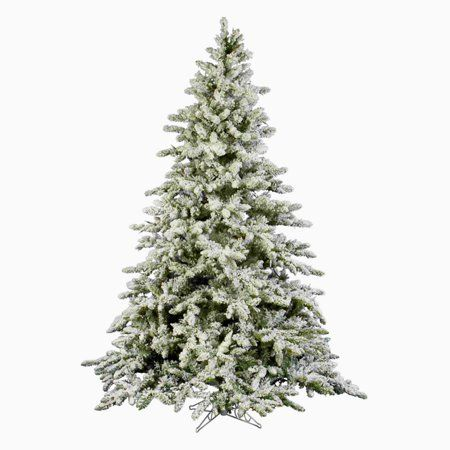 6 Flocked Artificial Christmas Tree Unlit Hook On Branches 6ft Fake Christmas Pine Tree Wi Artificial Christmas Tree Types Of Christmas Trees Christmas Tree