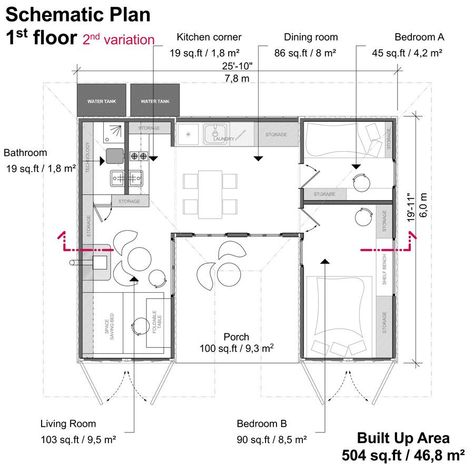 Two Container House Plans