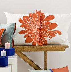 To add that splash of orange to the living room.