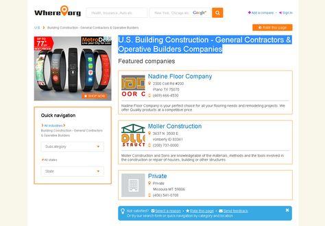 U S Building Construction General Contractors Operative
